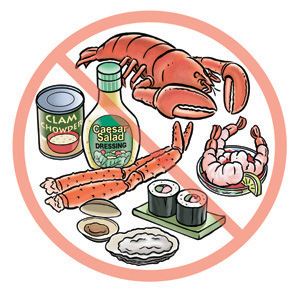 allergia ai molluschi e crostacei